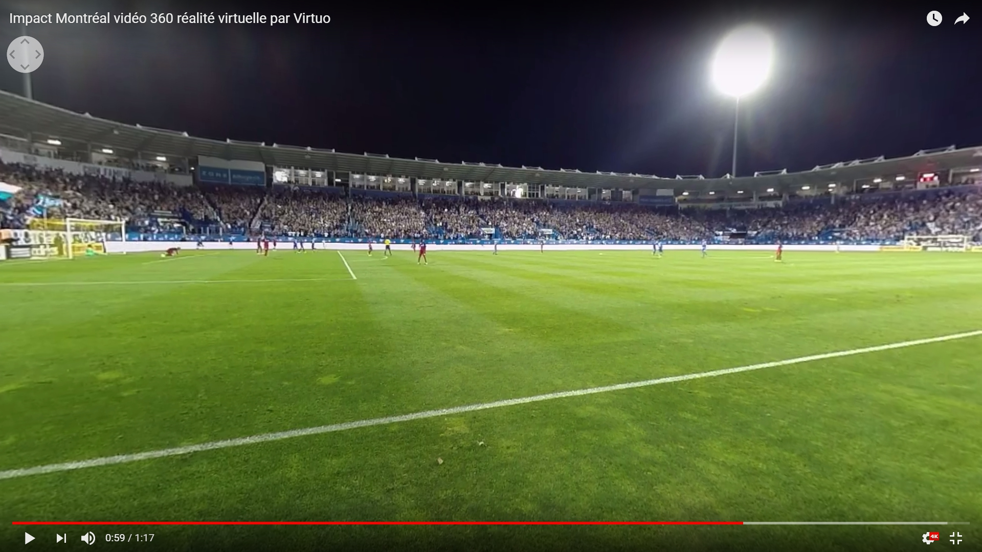 Montreal Impact Soccer Team Video 360 Virtual Reality By
